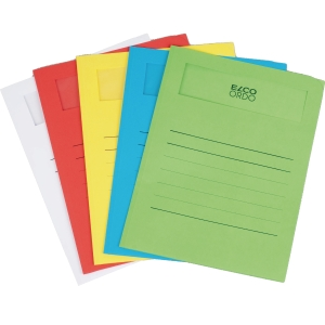 Elco 420520 Ordo Volumino window folder assorted colours - box of 50