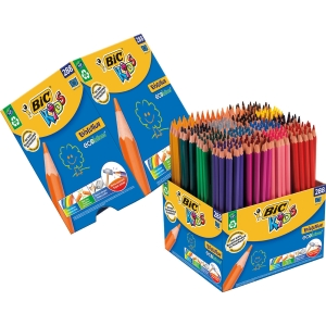 Bic Kids Evolution crayons couleurs assorti - le paquet de classe 288