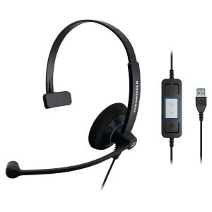 Sennheiser SC30 micro-casque filaire pour PC - monaural