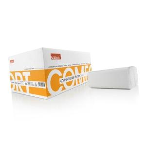 Satino essuie mains papier en ZZ 1 plis - paquet de 18 x 256