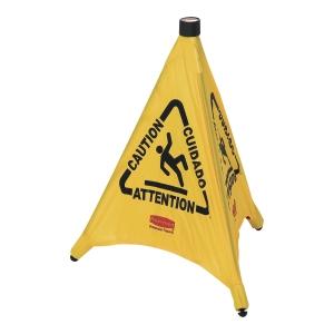 Panneau d avertissement pliable Rubbermaid  Sol glissant  51cm jaune