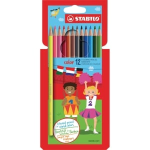 Stabilo Color crayons de couleurs assorties - le paquet de 12