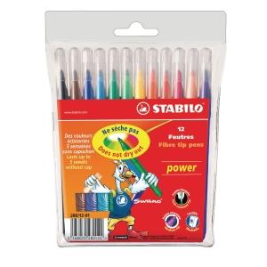 Stabilo Power 280 feutres assorties - le paquet de 12