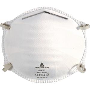 Delta Plus M1100C masque à poussière jetable FFP1 sans valve - la boîte de 20