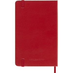 Moleskine pocket 1 jour par page rouge
