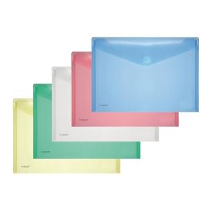 Foldersys enveloppes transparentes en PP A4 assorti - paquet de 10