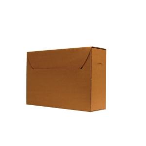 Boîte archive en carton ICN4 sans acide brun à moyen terme moyen - paquet de 50