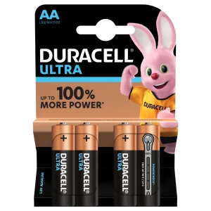 Duracell Ultra Power Piles Alcalines type AA, Lot de 4