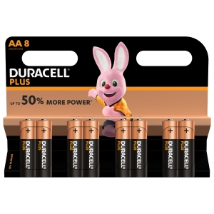 Duracell Plus Power AA batteries alcalines  - paquet de 8