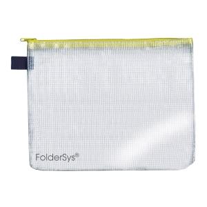 Foldersys sachet fermeture éclair A5 jaune