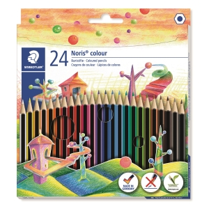 Staedtler Noris crayon couleur - le paquet de 24