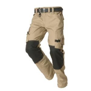 Pantalon de travail Tricorp TWC2000, beige/noir, taille 64, la pièce