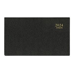 Brepols Omniplan 738 agenda de poche couverture Genova noire