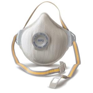 Masque à poussière Moldex Air Plus 3405 FFP3 avec valve ventex - boîte de 5