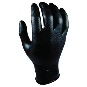 Grippaz 246 gants nitrile noir - taille L - boîte de 50 pièces