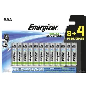 Energizer Eco Advanced piles alcaline AAA - paquet de 8+4 gratuit