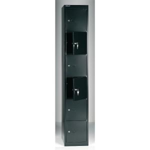 Bisley vestiaire CLK186633 6 compartments black