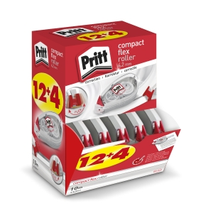 Pritt Compact Roller Flex roller de correction 4,2mmx10m value pack 12+4 gratuit