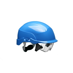 Centurion Spectrum casque de securité ventilé + lunettes intégrés - bleu