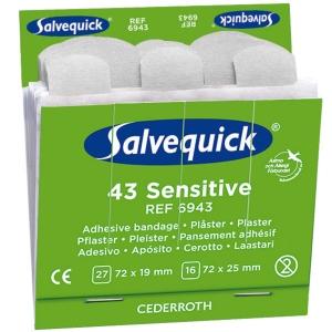 Salvequick 6943 sparadrap tendre pour distributeur - paquet de 45