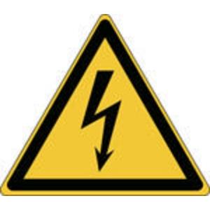 Brady pictogramme autocollant W012 Electricité 100x87 mm - paquet de 3