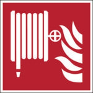 Brady pictogramme autocollant F002 Robinet d incendie armé 100x100mm