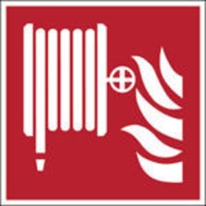 Brady pictogramme autocollant F002 Robinet d incendie armé 200x200mm