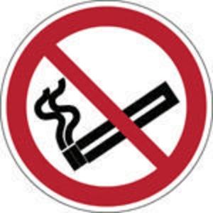 Brady pictogramme autocollant P002 Interdiction de fumer 315mm