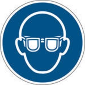 Brady pictogramme autocollant M004 Lunettes de protection obligatoires 100mm