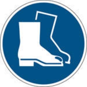 Brady pictogramme autocollant M008 Chaussures de sécurité obligatoires 100mm