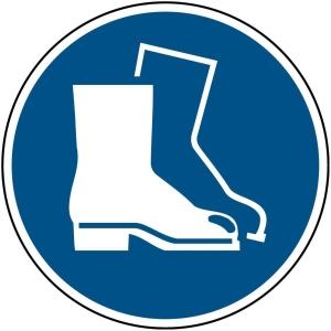 Brady pictogramme autocollant M008 Chaussures de sécurité obligatoires 200mm