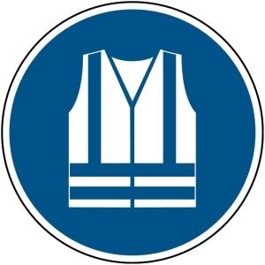 Brady pictogramme autocollant M015 Gilet de sécurité obligatoire 200mm