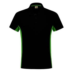 Polo Tricorp TP2000 Bi-Color, noir/vert, taille S, la pièce