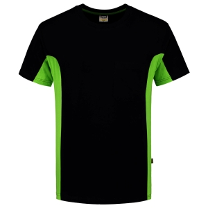 T-shirt Tricorp TT2000 Bi-Color, noir/vert, taille S, la pièce