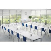 Spoon cafetariastoel blauw/wit - pak van 2