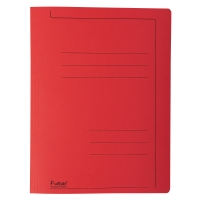 Exacompta snelhechtmappen A4 karton 275g rood - pak van 10