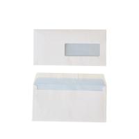 Standaard enveloppen 114x229mm siliconenstrook venster rechts 80g - doos van 500