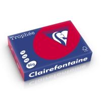 Clairefontaine Trophée 1782 gekleurd papier A4 80g kersenrood - pak van 500