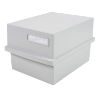Exacompta Multiform kaartenbak voor 500 systeemkaarten A6 licht grijs