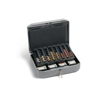 Durable geldkistje met muntlade 270x350x120mm grijs
