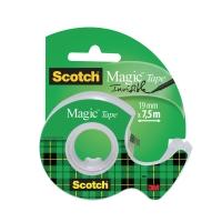 Scotch Magic 810 onzichtbaar plakband 19mmx7,5 m met dispenser