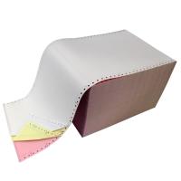 Listingpapier wit/geel/roze 240x12 60g - doos van 750 vellen