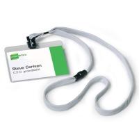 Durable 813910 badgehouder + textielband grijs