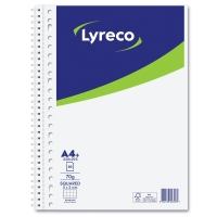Lyreco Collegedictaat spiraalschrift A4+ 5x5mm geruit 80 vellen 23 perforaties
