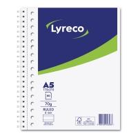 Lyreco Collegedictaat spiraalschrift A5+ gelijnd 80 vellen 17 perforaties