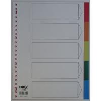 IndX neutrale tabbladen 5 tabs PP 23-gaats