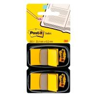 Post-it Index 25x44mm geel - pakket van 2