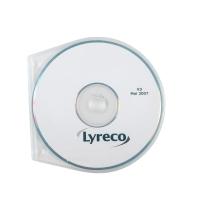 Ronde geperforeerde CD/DVD doosjes - pak van 10