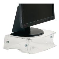 Ergo 2000 monitorstandaard verstelbare hoogte transparant