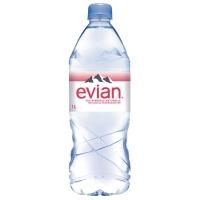 Evian mineraalwater fles 1l - pak van 6